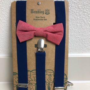 Wembley Bow tie and suspenders set